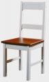 Židle II. - bílo-hnědá