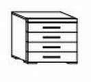 ložnice CAROLINA buk - komoda 4 zásuvky