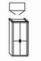 ložnice CAROLINA buk - skříň 2dvéřová