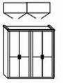 ložnice CAROLINA buk - skříň 4dvéřová
