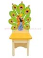 narozeninová židle páv