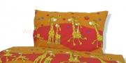 povlečení žirafa červená