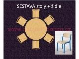 set K kruh pr.120 + 6 židlí