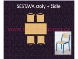 set K obdélník 120x60 + 4 židle