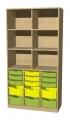 A525A skříňka s plastovými boxy