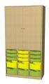 A525B skříňka s plastovými boxy
