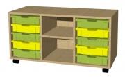 A635 hrací pulty s plastovými boxy