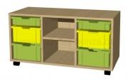 A645 hrací pulty s plastovými boxy