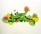 A67 dekorace krokodýl