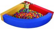 Bazén na míčky roh