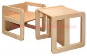 DE1210A víceúčelová židle/stůl