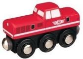 Dieslová lokomotiva - červená