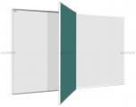 Dvoudílná tabule PIVOT KB + KZ -fix+křída