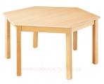 stůl HONZÍK L šestiúhelníkový průměr 120cm