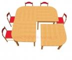 stůl HONZÍK L čtverec 80x80cm s oblým rohem