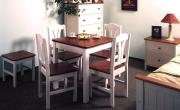 Jídelní stůl - bílo-hnědý  78x78