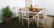 Jídelní stůl - bílo-hnědý  124x78