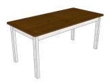Jídelní stůl - bílo-hnědý 175x85