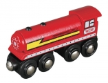 Parní lokomotiva - červená