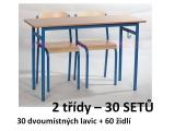 SET dvoumístný NAT 2 třídy (30ks)