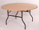 Skládací stůl kruh
