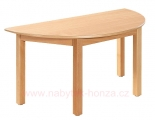 Stůl HONZÍK L půlkruh 120x60cm