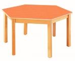 Stůl HONZÍK L+PVC šestiúhelník průměr 120cm