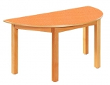 Stůl HONZÍK L+PVC půlkruhový 120x60cm