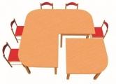 Stůl HONZÍK L+PVC čtverec s oblým rohem 80x80cm