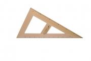 Trojúhelník magnetický dřevěný 30° - 60 cm