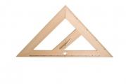 Trojúhelník magnetický rovnoramenný dřevěný 45° - 50 cm