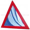 DE91053 Zrcadlo trojúhelník v rámu (55cm)
