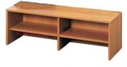 Šatní lavička, plné přihrádky