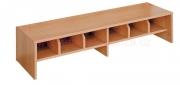 Šatní lavička, dělené přihrádky