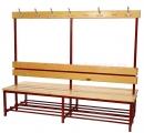 Šatní věšáková lavice oboustranná - dřevo