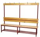Šatní věšáková lavice jednostranná - dřevo