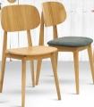 Židle BUNNY dub masiv sedák látka