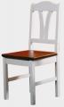 Židle I. - bílo-hnědá