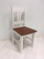 Židle IV. - bílo-hnědá