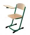židle se sklopným stolkem