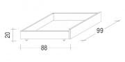 úložný prostor pod postele buk bílý