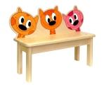 kočky-lavička pro 2 děti