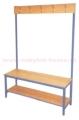 lavička KBS 150cm s jednostranným věšákem