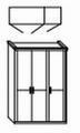 ložnice CAROLINA buk - skříň 3dvéřová