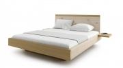 postel AMANTA s nočními poličkami a úložným prostorem 200x200 dub