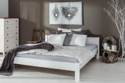 postel ANNY bílo-hnědá nízká