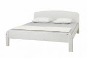 postel BERGHEN nízké čelo u nohou bílá