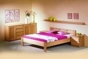 postel DALILA 100x200 čelo nízké buk