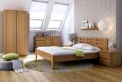 postel DALILA 100x200 čelo vysoké obdélníkové výřezy buk