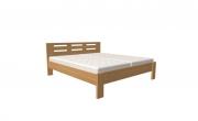 postel DALILA 120x200 čelo vysoké obdélníkové výřezy dub